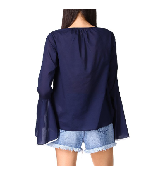 Cotton Flounce Sleeve Top
