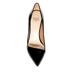 Francesco Russo Black Patent Pump - TheSeptember.com
