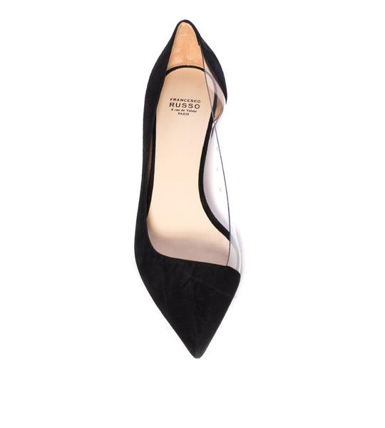 PVC and Suede Pump