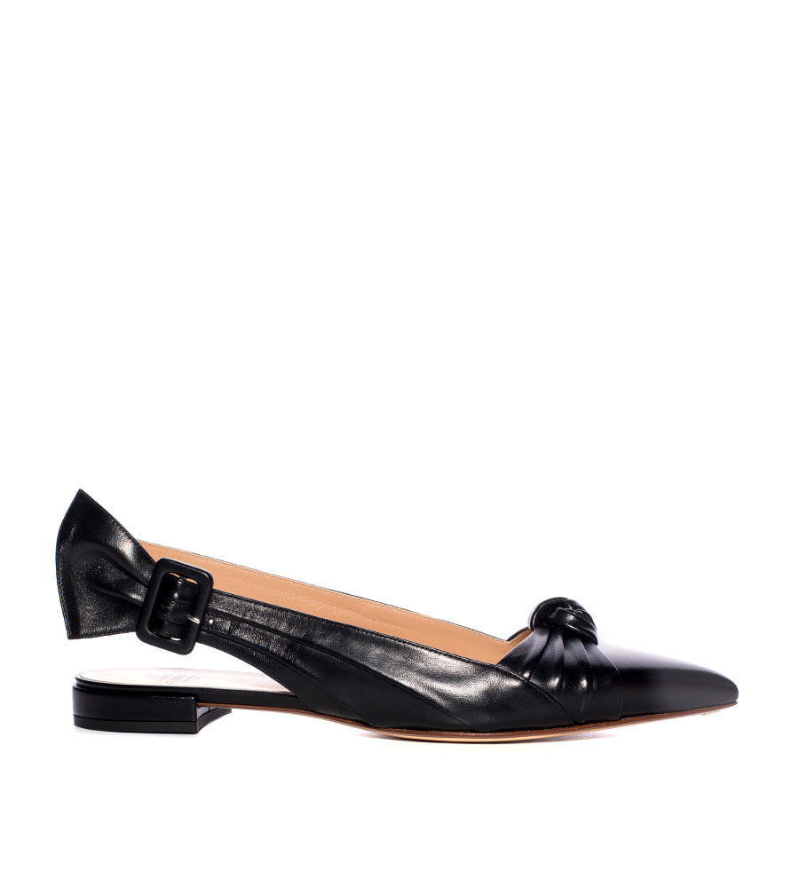 Knotted Leather Sling Flat