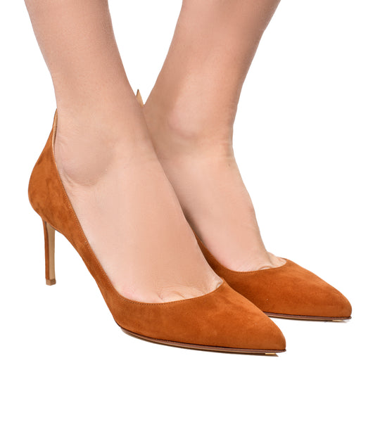 Honey Suede Pump