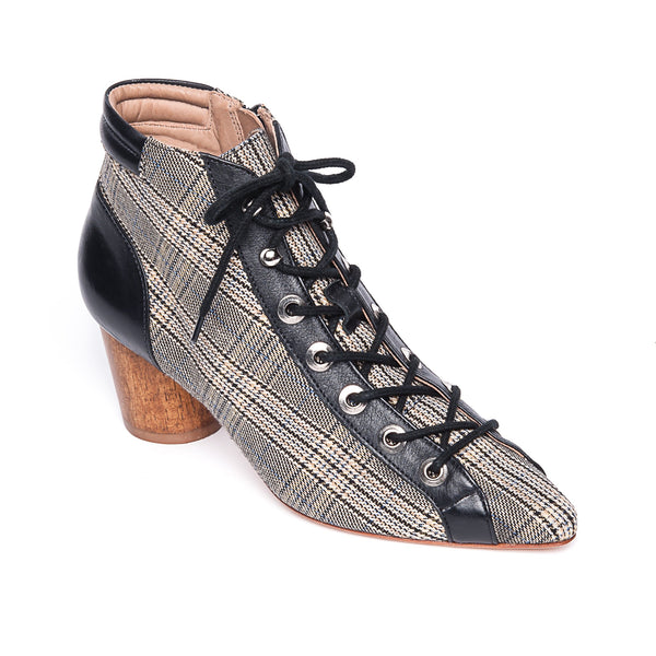 Francie Lace-Up Plaid