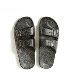 Two-Strap Sandal Black Glitter