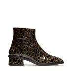 Galway Olive Croco Leather Boot