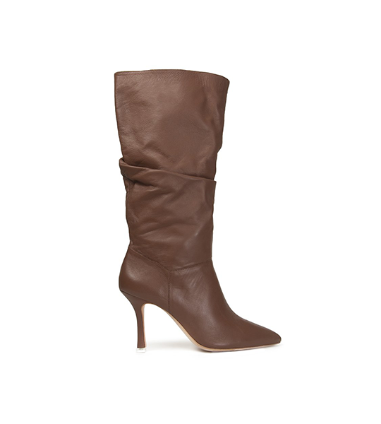Grecia Slouchy Knee High Boot Brown