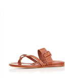 Hayley Tan | Leather Thong Sandal With Buckle Detail