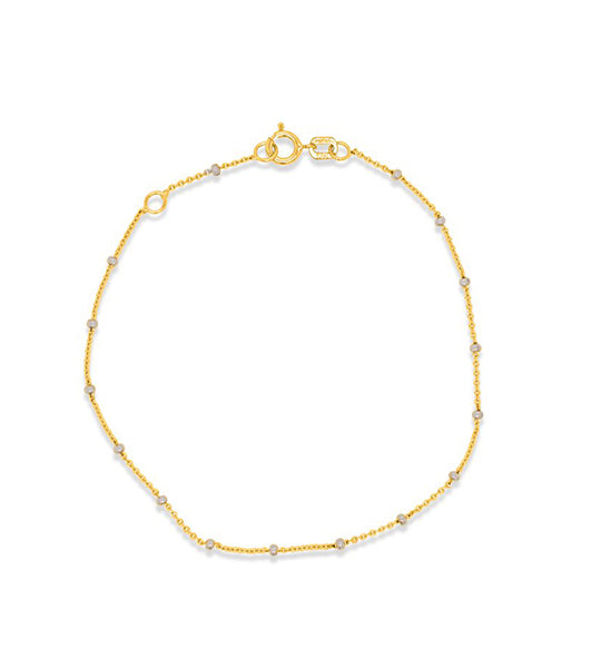 Charming Gold Bead Chain Bracelet