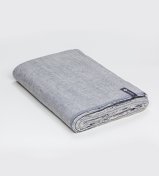 Classic Cotton Yoga Blanket - Ink Weave