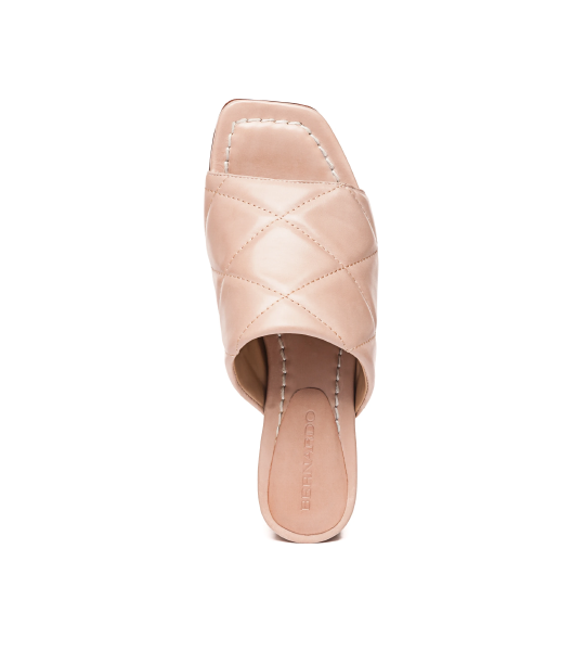 Jemma Quilted Mule - Blush