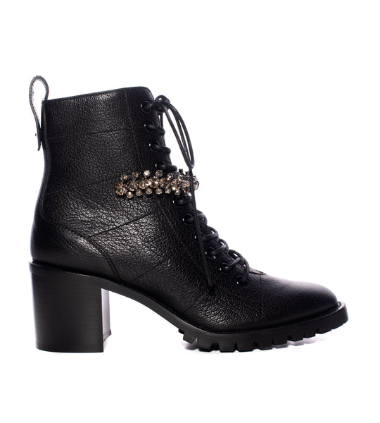 Cruz Block Heel Lace-Up Boot