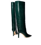 Mavis Croc Embossed Tall Boot