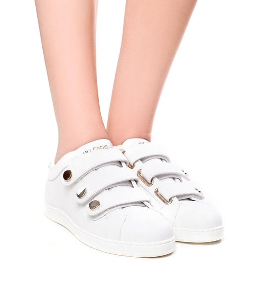 Jimmy Choo NY Leather Sneaker - TheSeptember.com