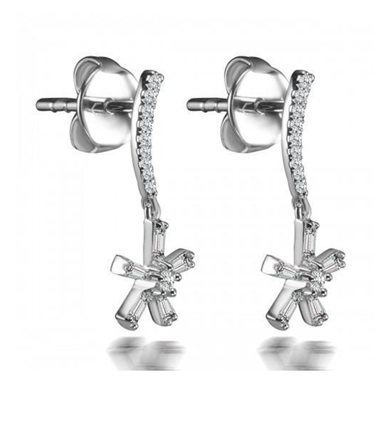Joy Baguette Diamond Earrings