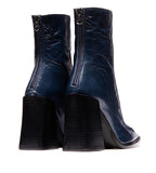 Keel Navy Leather Boot