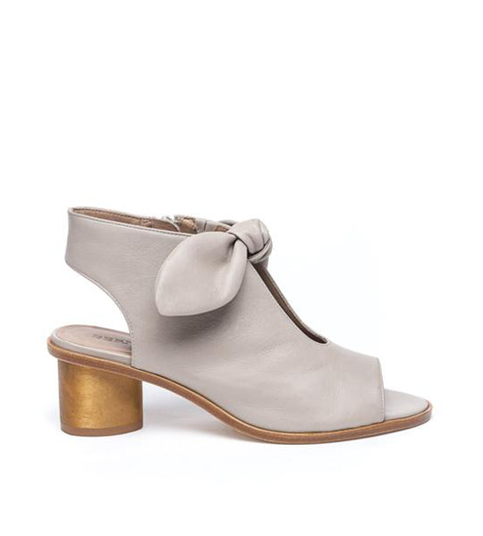 Luna Wood Heel Sandal Clay Leather
