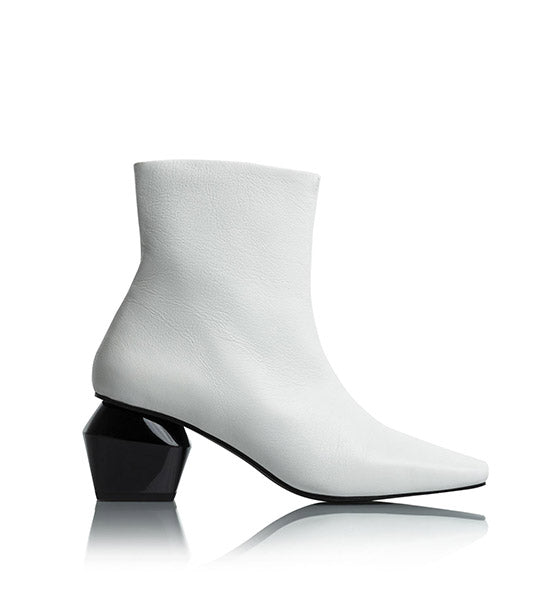 Christina White Ankle Boot