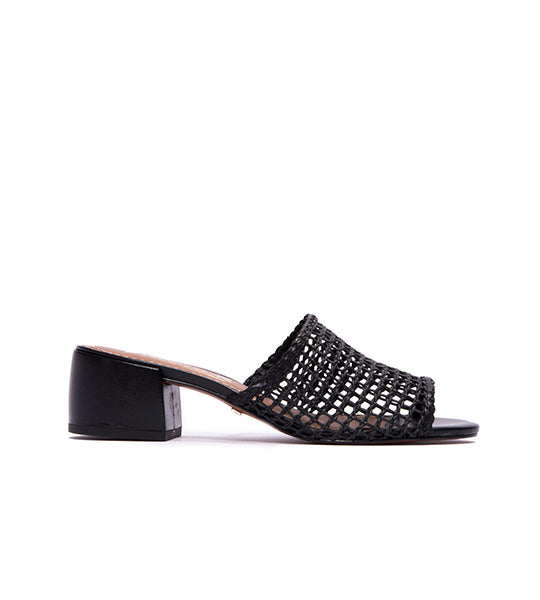 Dia Crochet Sandals Black