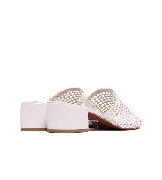 Dia Crochet Sandals White