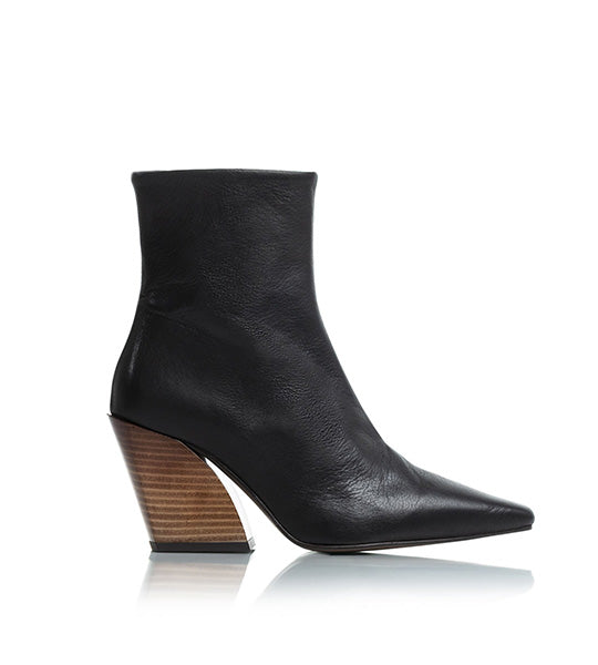 Melibella Black Leather Boot