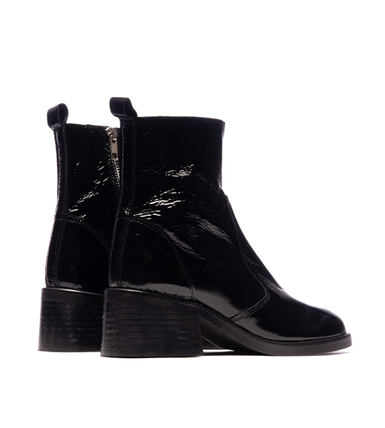 Lane Ankle Boot - Black Patent