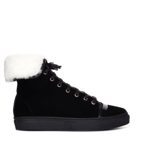 High-top Shearling Sneaker