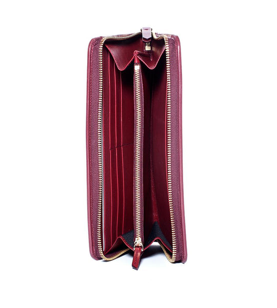 Lanvin Burgundy Long Clutch - TheSeptember.com