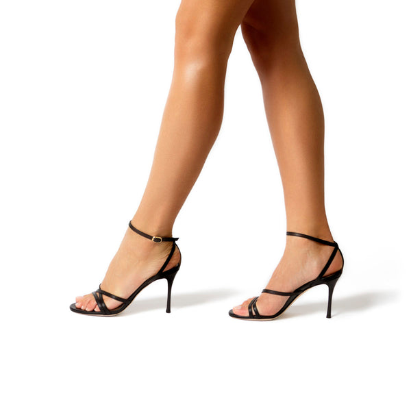 Lillian Black | Strappy Evening Sandal Stiletto