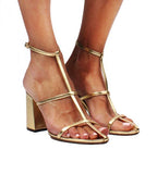 Linley Metallic Napa Leather Sandal
