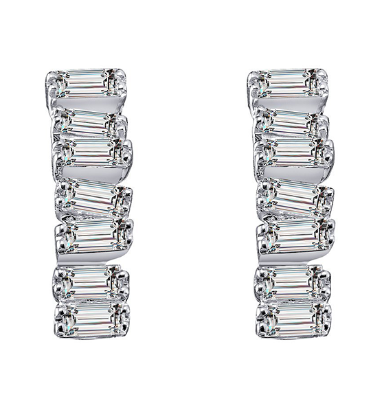 Love Diamond Earrings - White Gold