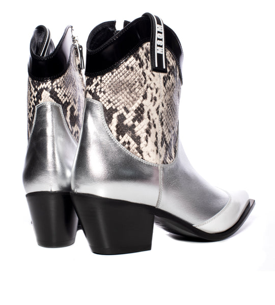 Metallic Snake Cowboy Boot