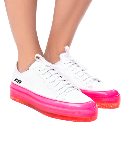 Floating Sneaker with Fluorescent Sole