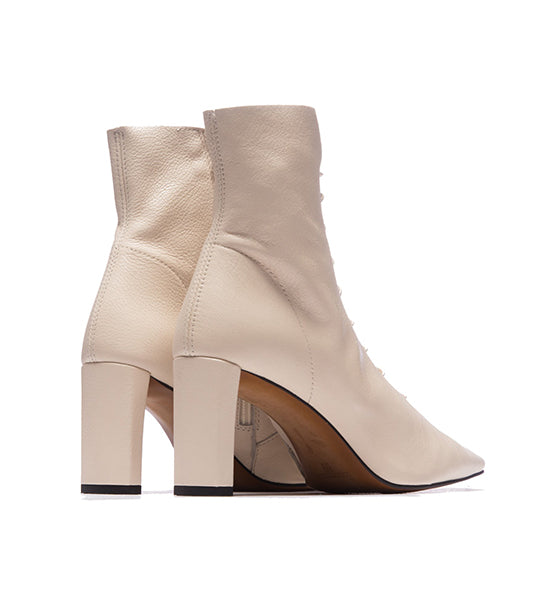 Madeline Ivory Leather Bootie
