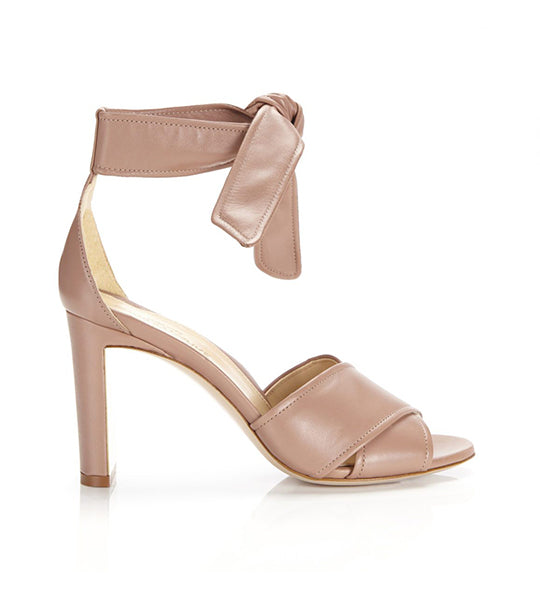 Leah | Leather Ankle Tie Sandal