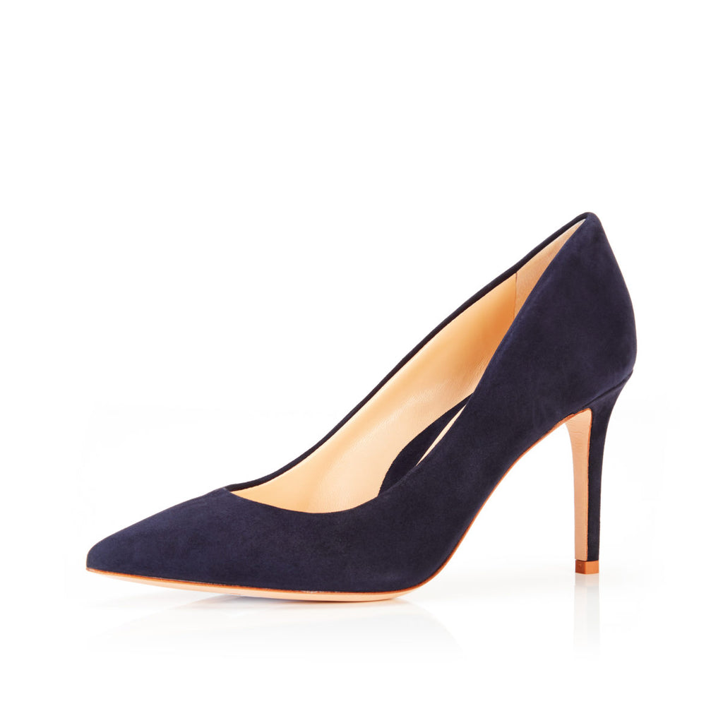 Must Have 85 Navy | Classic Suede High Heel Pump