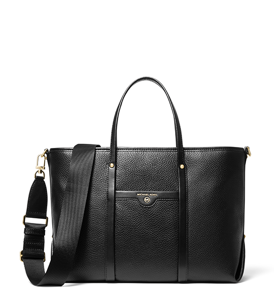 Beck Medium Tote Bag - Black and Luggage