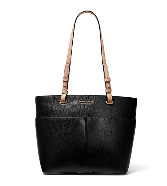 Bedford Medium Tote Bag - Black and Berry