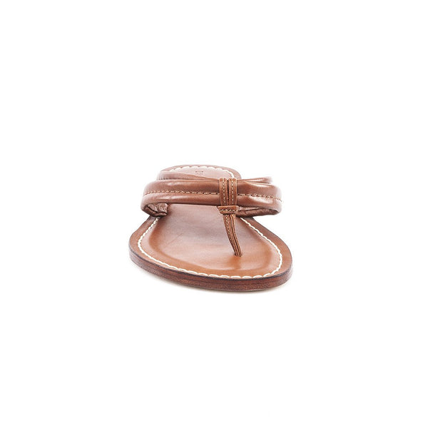 Miami Tan Leather Flip Flop
