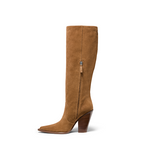 Micki Boot Brown Suede