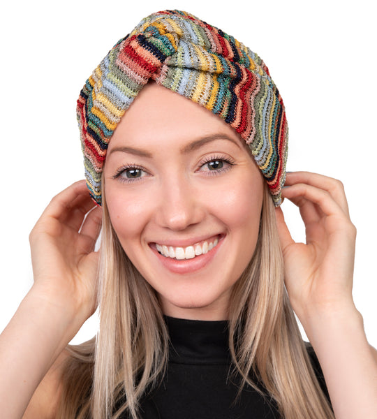 Metallic Knit Turban