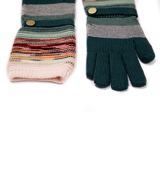Knit Gloves with Button