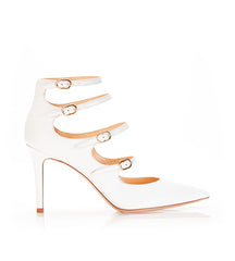 Mitchell White | Leather Strappy Mary Jane Stiletto Pump