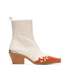 Morgan White Leather Boot