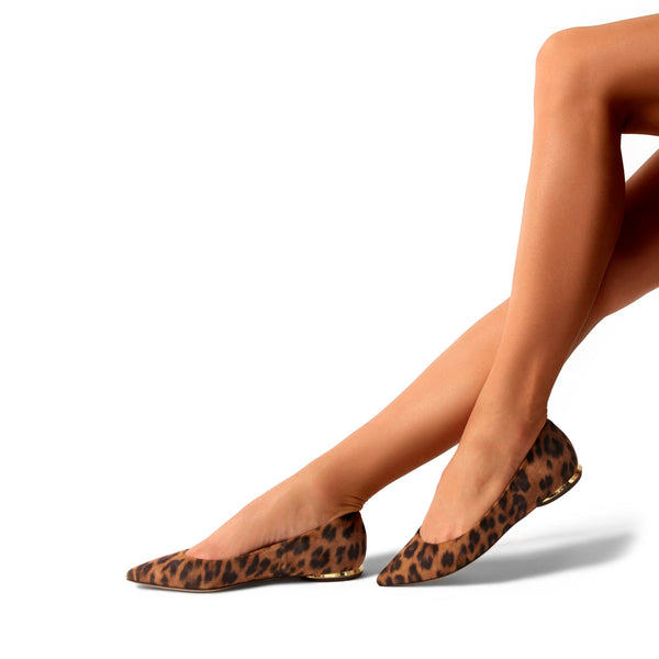 Must Have Flat | Leopard Suede Classic Pointy Toe Flat