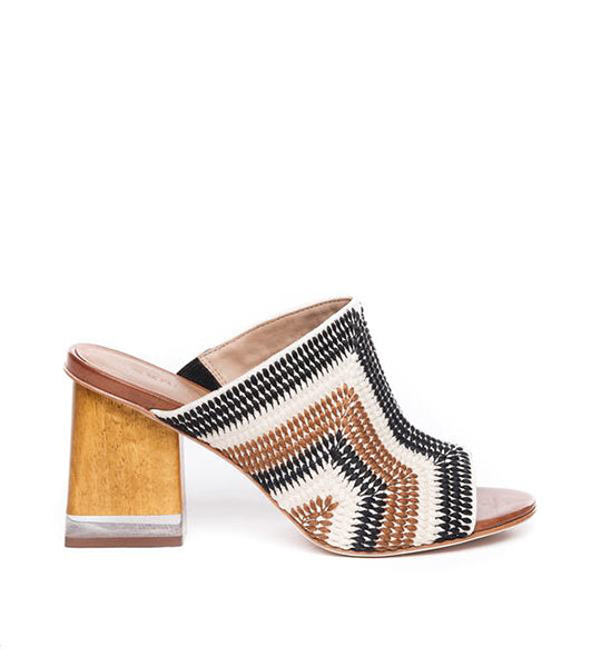 Nala Neutral Embroidered Mule