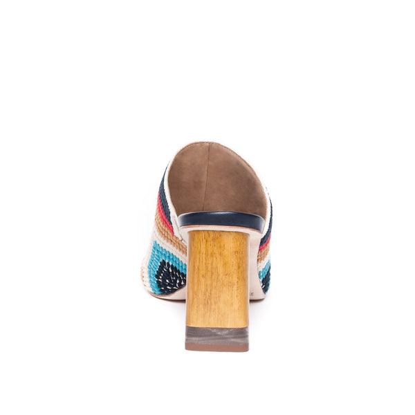 Nala Multi Coloured Embroidered Mule