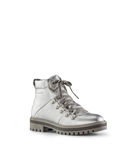 Nash Leather Hiking Boot - Silver