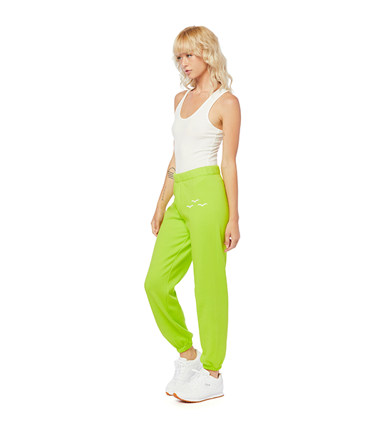 Niki Ultra Soft Sweatpants - Green Fluo