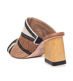 Nisha Embroidered Mule - Natural