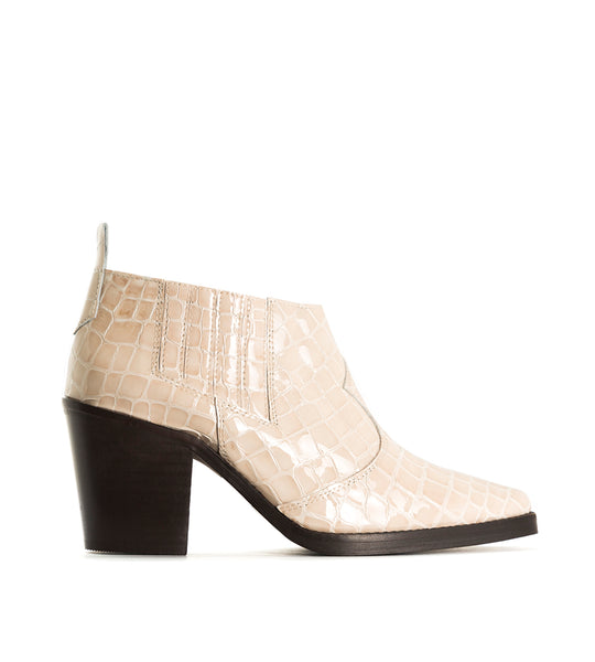 Grace Croco Ankle Boot