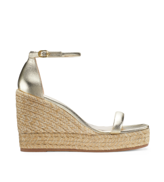 Nudist Espadrille Wedge - Gold